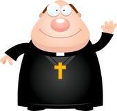Prêtre Waving de bande dessinée Photographie stock