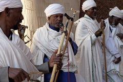 Prêtres, Lalibela images libres de droits