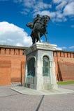Príncipe íntegro santamente Dmitry Donskoy, monumento imagem de stock