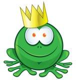 Príncipe Cartoon de la rana Fotografía de archivo