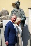 Príncipe Charles de Inglaterra e sua esposa Camilla Parker Bowles, duquesa de Cornualha fotos de stock royalty free