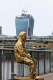 Príncipe Charles no Southbank imagem de stock