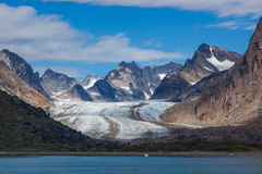 Príncipe Christian Sound, Groenlandia Imagenes de archivo