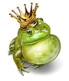 Príncipe Communication de la rana Imagenes de archivo