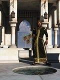 Príncipe das noites árabes em seu palácio de verão ilustração royalty free