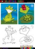 Príncipe de la rana de la fantasía para el colorante Imagen de archivo libre de regalías