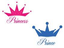 Príncipe e princesa Imagem de Stock