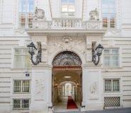 Príncipe Eugene del palacio de la ciudad del palacio del invierno de la col rizada en Himmelpfortgasse en Viena, Austria Imagenes de archivo