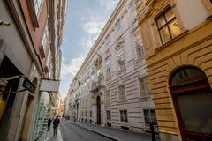 Príncipe Eugene del palacio de la ciudad del palacio del invierno de la col rizada en Himmelpfortgasse en Viena, Austria Fotografía de archivo libre de regalías