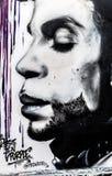 Príncipe Grafitti Art en San Francisco, California Imagenes de archivo