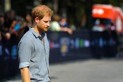 Príncipe Harry durante jogos de Invictus foto de stock