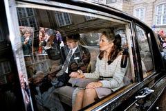 PRÍNCIPE HERDEIRO FREDERIK E SEU NOIVO MARY DONALDSON Imagem de Stock Royalty Free