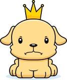 Príncipe irritado Puppy dos desenhos animados Imagens de Stock Royalty Free