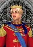 Príncipe no palácio do conto de fadas ilustração stock