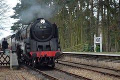 Príncipe 92203 preto na estação de Holt na estrada de ferro norte de Norfolk imagens de stock