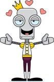 Príncipe Robot Hug dos desenhos animados ilustração royalty free