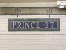 Príncipe Street Subway Station fotografia de stock
