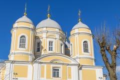 Príncipe Vladimir Cathedral en el centro de St Petersburg Foto de archivo