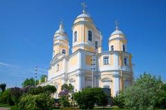 Príncipe-Vladimir Vladimirskiy Cathedral en un primero de mayo soleado St Petersburg, Rusia Imagen de archivo libre de regalías