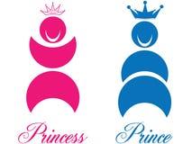 Príncipe y princesa ilustración del vector