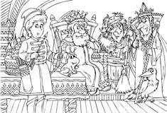 Príncipe y rey stock de ilustración