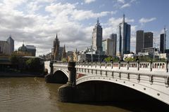 Príncipes Bridge Melbourne Imagen de archivo