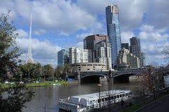 Príncipes Bridge Melbourne Fotos de archivo libres de regalías