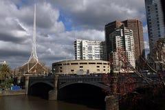 Príncipes Bridge Melbourne Foto de archivo