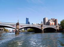Príncipes Ponte sobre o rio de Yarra em Melbourne, Austrália Foto de Stock Royalty Free