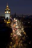 Príncipes Street, Edimburgo, Escocia Fotos de archivo libres de regalías