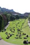 Príncipes Street Gardens Imagen de archivo libre de regalías