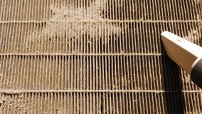 Próżniowy czysty czyści brudny lotniczy filtr zdjęcie wideo