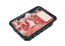 Próżniowy obwód pakuje dla mięsa Obrazy Royalty Free