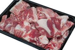 Próżniowy obwód pakuje dla mięsa, zbliżenie Obraz Royalty Free