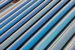 Próżniowych poborców słoneczny wodny ogrzewanie Zdjęcia Royalty Free