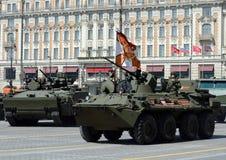 Próba dla świętowania zwycięstwo parada w Moskwa Zdjęcia Stock