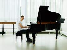 Próba przed koncertowym pianistą Obraz Royalty Free