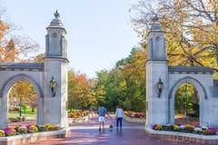 Próbek bramy przy uniwersytetem Indiana Fotografia Stock