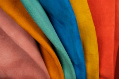 Próbek skóry różnorodni kolory Obraz Royalty Free