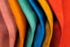 Próbek skóry różnorodni kolory Obrazy Stock