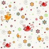 Próbek tekstury z ptakami Zdjęcia Royalty Free