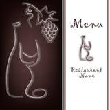 Próbka menu restauracja Zdjęcie Royalty Free