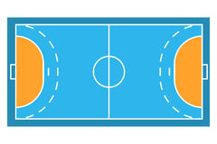 Próbka sporta pola arens Handball Zdjęcie Stock