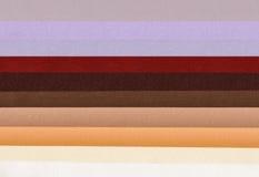 Próbki barwiona poliestrowa tkanina, tekstury tło Zdjęcie Royalty Free