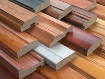 Próbki drewniani meble MDF profile, Różny średni densi ilustracja wektor