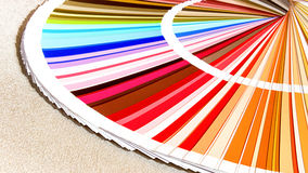 Próbki kolorów katalog Koloru palety przewdonik Zdjęcie Royalty Free
