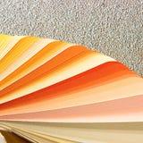 Próbki kolorów katalog Koloru palety przewdonik Fotografia Stock