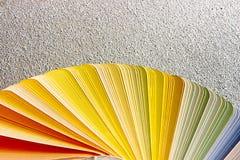 Próbki kolorów katalog Koloru palety przewdonik Zdjęcia Royalty Free