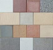 Próbki kolorowe plenerowe kamień płytki zdjęcie royalty free