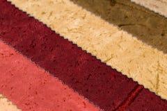 Próbki meblarskie tkaniny Zdjęcie Stock